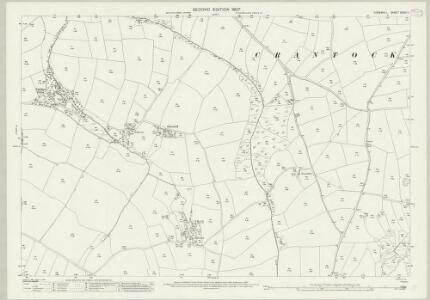 Cornwall XXXIX.11 (includes: Cubert; Newlyn) - 25 Inch Map