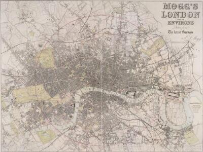 MOGG'S LONDON AND ITS ENVIRONS Drawn from The latest Surveys