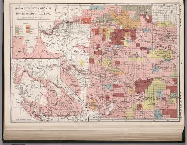 Origin of the population 1911: British Columbia and Alberta