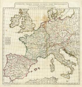 Germanie, France, Italie, Espagne, Isles Britanniques.
