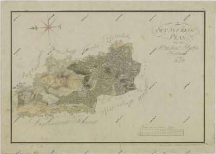 Situační plán statku Hamr-Val a přilehlých pozemků 1
