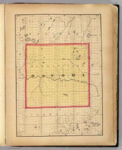 (Map of Oscoda County, Michigan)