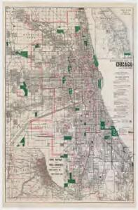 Blanchard's map of Chicago and suburbs