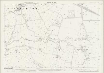 Cheshire VIII.16 (includes: Carrington; Dunham Massey; Partington; Warburton) - 25 Inch Map