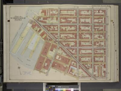 Brooklyn, Vol. 1, Double Page Plate No. 8; Part of    Wards 6 & 12, Section 2; [Map bounded by Degraw St., Henry St., Coles St.,       Seabring St., Van Brunt St., Commerce St.; Including Commercial Wharf Conover    St., India Wharf, Hamilton Ave., Un