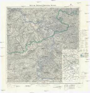 Karte der Sächsisch-Böhmischen Schweiz