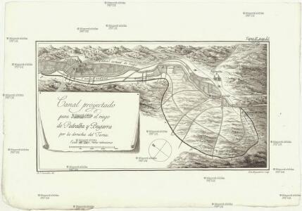 Canal projectado para aumentar el riego de Pedralba y Bugarra por la derecha del Turia