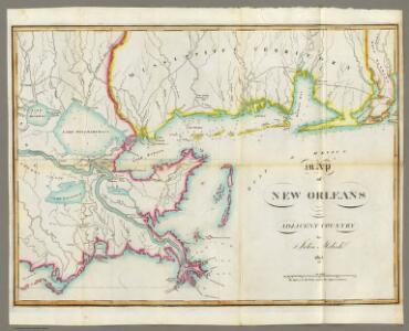 Map of New Orleans and Adjacent Country.