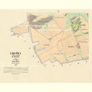 Lhotka - c3954-1-002 - Kaiserpflichtexemplar der Landkarten des stabilen Katasters