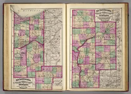 Porter, Lake, Newton, White, Jasper, Benton, Warren, Tippecanoe, Fountain, Montgomery, Parke, Vermillion counties.