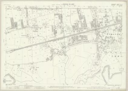 Lancashire CX.3 (includes: Carrington; Davyhulme; Flixton; Sale; Urmston) - 25 Inch Map