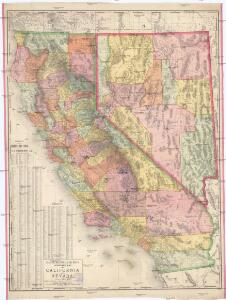 Rand, McNally & Co.'s standard map of California and Nevada