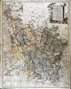Carte de la Lorraine, du Barrois, et des trois evêchés de Metz, Toul, et Verdun