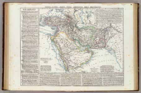 Turchia Asiatica, Arabia, Persia, Afghanistan, Herat, Belutchistan.