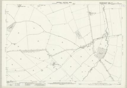 Northamptonshire XIII.16 (includes: Elton; Folksworth and Washingley; Haddon; Morborne; Warmington) - 25 Inch Map