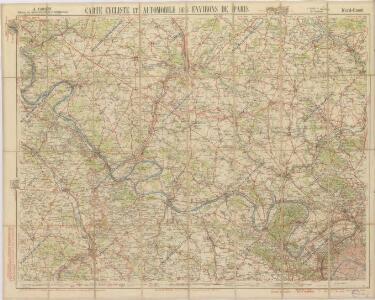 Carte cycliste et automobile des Environs de Paris