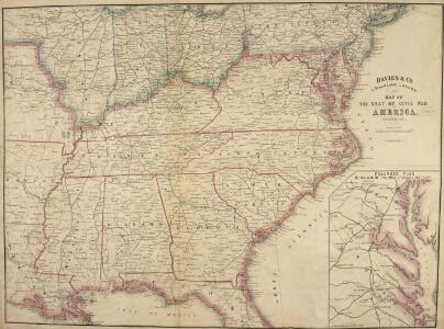 Map of the Seat of Civil War in America, September, 1862