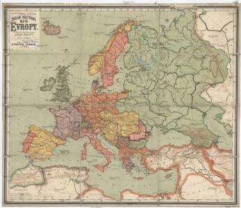 F. Umlaufta a J.G. Rothauga školní nástěnná mapa Evropy