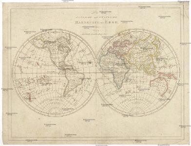 Die östliche und westliche Halbkugel der Erde