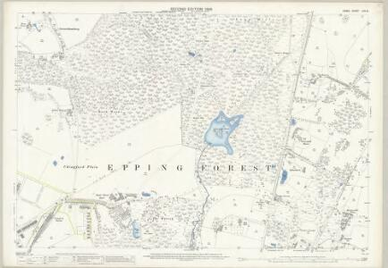 Essex (1st Ed/Rev 1862-96) LVII.15 (includes: Buckhurst Hill; Chingford; Loughton; Waltham Holy Cross) - 25 Inch Map