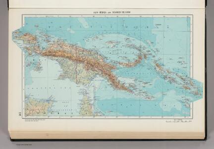 335.  New Guinea, Solomon Islands.  The World Atlas.