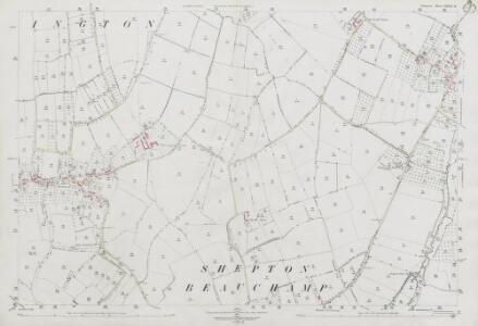 Somerset LXXXI.11 (includes: Barrington; Kingsbury Episcopi; Shepton Beauchamp; South Petherton; Stocklinch) - 25 Inch Map