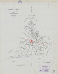 Mapa planimètric de la Pobla de Granadella