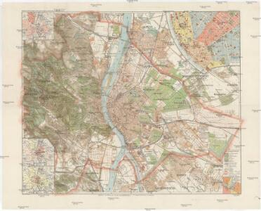 Budapest székes-föváros egész területének térképe