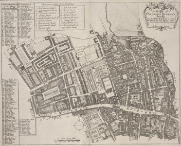 A Mapp of ST. ANDREWS HOLBORN Parish As well within the Liberty as without. Taken from the last Survey, with Corrections and Enlargements. Part A0