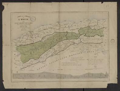 Carte de la région de l'Halfa : et des voies de communication, routes ou chemins de fer existants ou à créer, qui peuvent la desservir