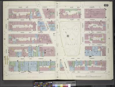 Manhattan, V. 4, Double Page Plate No. 69 [Map bounded by West 27th St., 4th Ave., West 22nd St., 6th Ave.]