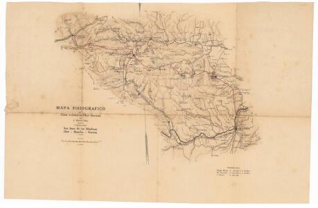 Mapa fisiografico de la zona volcànica Olot-Gerona : itinerario: San Juan de las Abadesas-Olot-Bañolas-Gerona
