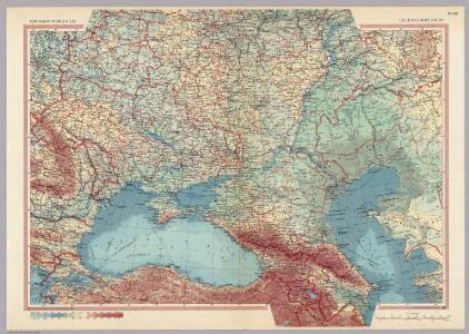 U.S.S.R. in Europe - South.  Pergamon World Atlas.