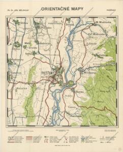 Orientační mapy. Piešťany