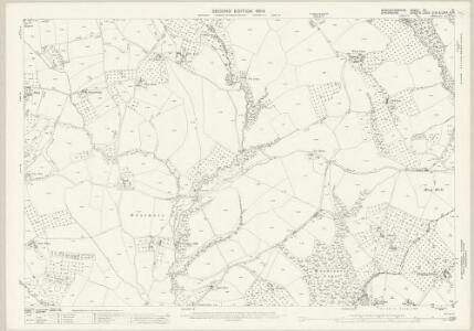 Worcestershire XII.10 (includes: Boraston; Coreley; Kington on Teme; Milson; Nash) - 25 Inch Map