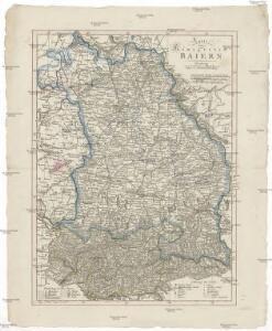 Karte vom Königreich Baiern