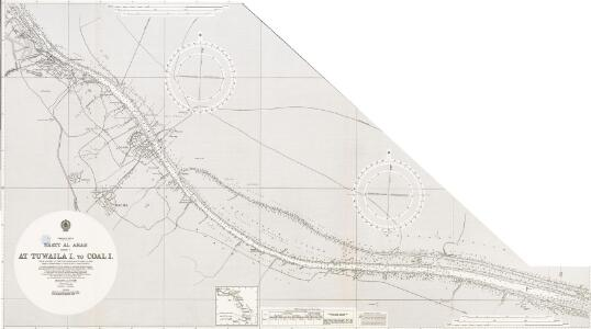 Persian Gulf. Shatt al Arab. Sheet v. Tuwaila I. to Coal I. Natural scale 1 : 25,000