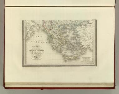 Carte de la Turque d'Europe et de la Grece.