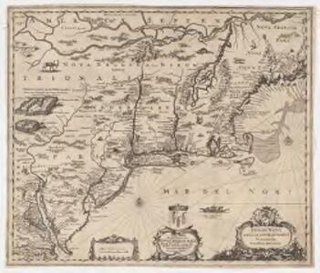 Belgii novi, angliae novae, et partis Virginiae : novissima delineatio