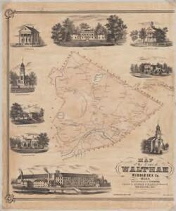 Map of the town of Waltham, Middlesex County, Mass : Town
