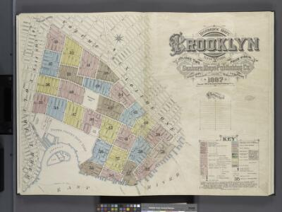 Insurance Maps of Brooklyn New York V. 2, Published by the Sanborn map co. 113Broadway, New York. 1887.