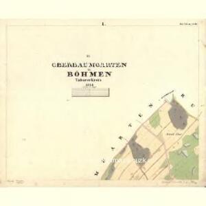 Oberbaumgarten - c2117-1-001 - Kaiserpflichtexemplar der Landkarten des stabilen Katasters