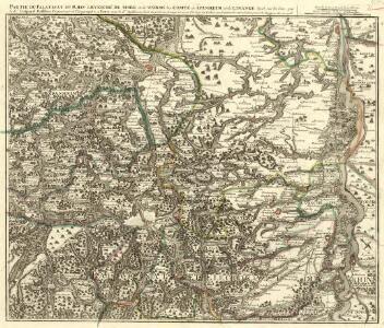 Partie du Cours du Palatinat du Rhin Levesché de Spire et de Worms les Comté de Spanheim et de Linange levée Sur les lieu