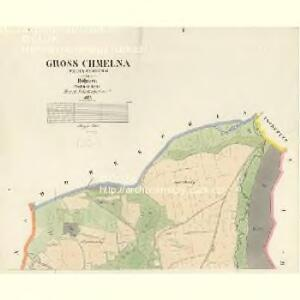 Gross Chmelna (Welka Chmelna) - c8394-1-001 - Kaiserpflichtexemplar der Landkarten des stabilen Katasters
