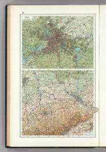 86.  Berlin, Districts of Leipzig, Dresden, Karl-Marx-Stadt.  The World Atlas.
