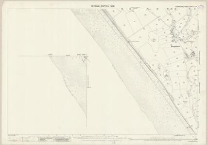 Cumberland LXXVII.3 & 7 (includes: Beckermet St Bridget) - 25 Inch Map