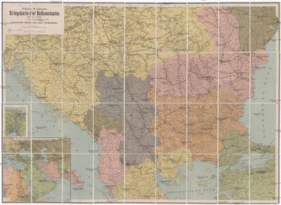 Professor W. Liebenow's Kriegskarte der Balkanstaaten