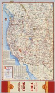 Shell Highway Map of Western United States.