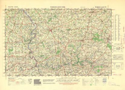 France 1:50,000 , Series GSGS 4250, Torigni-sur-Vire