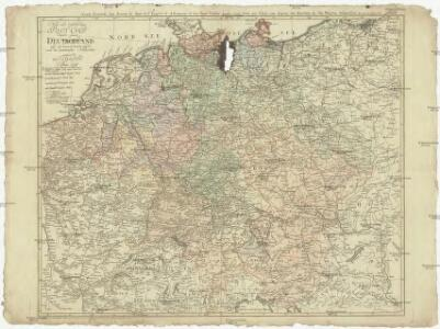 Neue und vollstaendige Post-Carte durch ganz Deutschland und die benach barten Lande